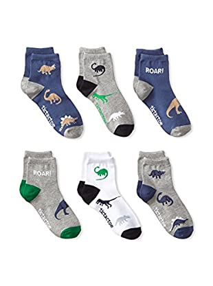 Tic Tac Toes Kid's 6-Pack Boys Combed Cotton Qtr (Multi)