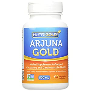 Nutrigold Arjuna Gold, 500 mg, 90 veg. capsules