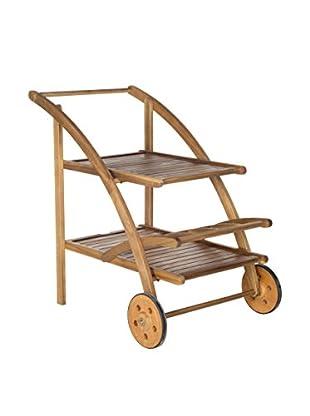 Safavieh Lodi Tea Cart, Teak Look
