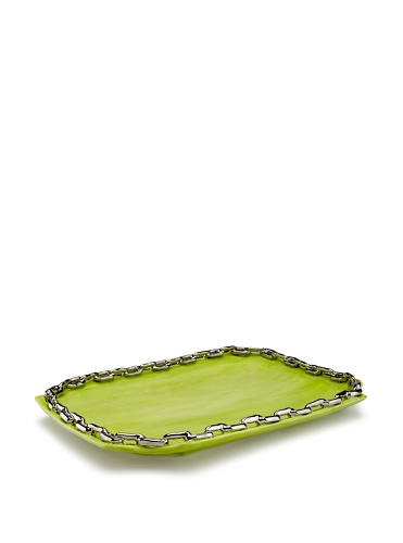 Studio B. by Magenta Chain Link Tray (Lime/Silver)