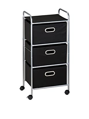 Honey-Can-Do 3 Drawer Rolling Cart, Black