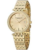 Stuhrling Original Women's 579.03 Soiree Tiara Swiss Quartz Swarovski Gold Tone Date Watch