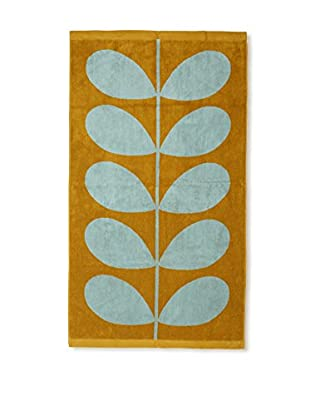 Orla Kiely Stem Jacquard Bath Towel, Duck Egg/Olive