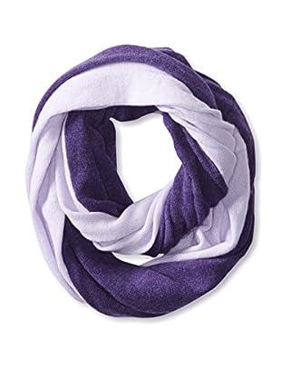 Cullen Women's Colorblock Cashmere Infinity Scarf, Cassis/Lavender