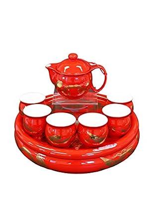 Auratic Pu Er & Kong Fu Tea Set, Red