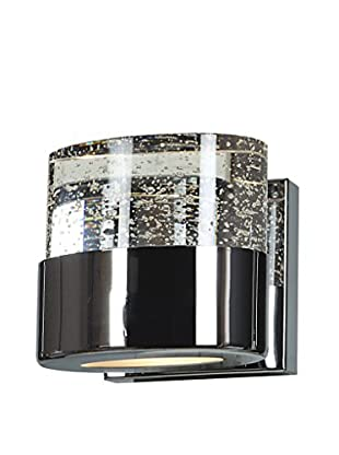 Access Lighting Bubbles 1-Light Sconce, Chrome/Clear