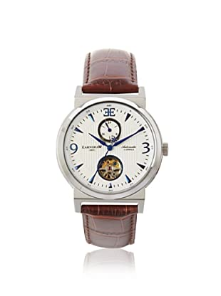 Earnshaw Men's 8012-02 Providence Brown/White Stainless Steel Watch