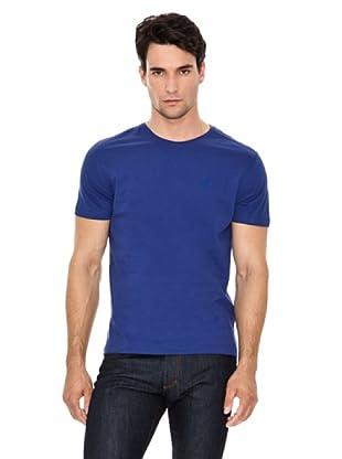 Versace Jeans Camiseta Logo Pequeño (Azul)
