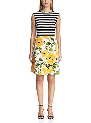 Sandra Darren Women's Mixed Print Dress