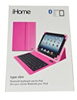 iHome Type Slim Bluetooth Keyboard Case for iPad 2/3/4/5 - Pink
