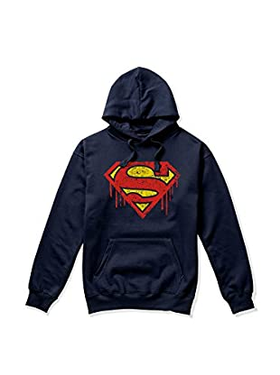 DC Comics Felpa Cappuccio Superman Drips