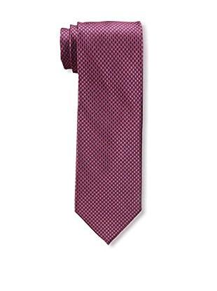 Bruno Piattelli Men's Houndstooth Silk Tie, Red