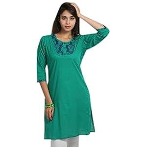 Jaipur Kurti Women's Kurta - Green