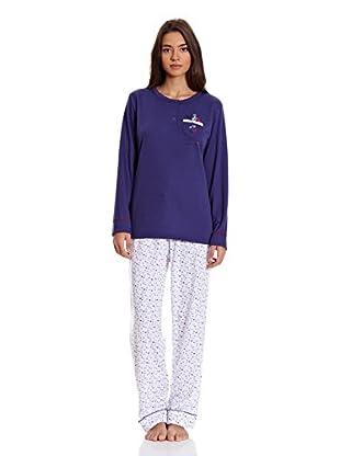 Tress Pijama Señora (Azul Marino)
