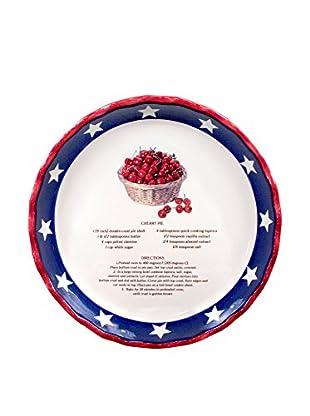 Aunt Beth's Cookie Keepers Patriotic Cherry Pie Plate