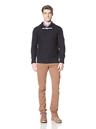 Ben Sherman Men's Crochet Collar Sweater (Navy)