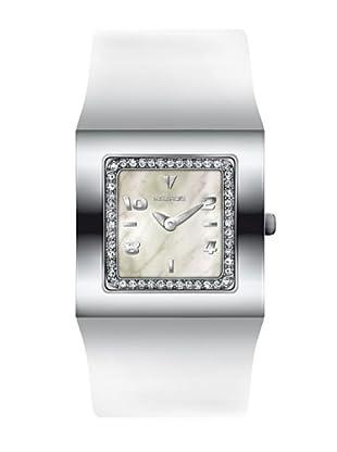 K&BROS 9153-2 / Reloj de Señora  con correa de piel blanco