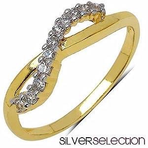 Silver Selection American Diamond Brass Ring