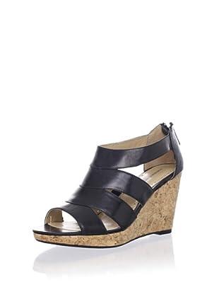 Adrienne Vittadini Women's Cate Platform Sandal (Black)