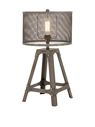 Metal 1-Light Table Lamp, Gray