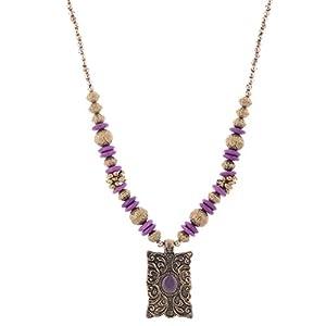 The Crazy Neck Purple Metallic Neck Piece Necklace
