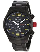 Red Line Watches, Men's Stealth Chronograph Black Dial Black IP Stainless Steel, Model 50042-BB-11YL