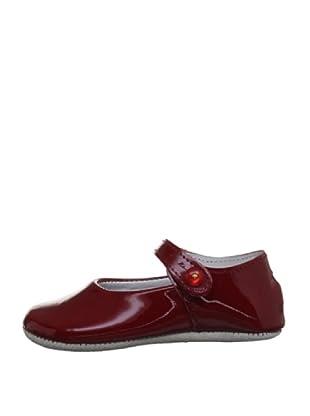 Rachel Riley Zapatos Button Strap Rrshoe1apt (Granate)