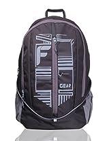 F Gear Frission Black Grey Laptop Backpack