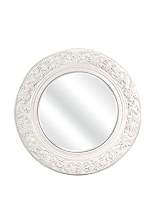 IMAX Merril Carved Round Mirror, 3.25x39.5x39.5