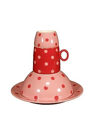 Cayos Company Set 4 Pezzi Tavola Bimbo Rosa