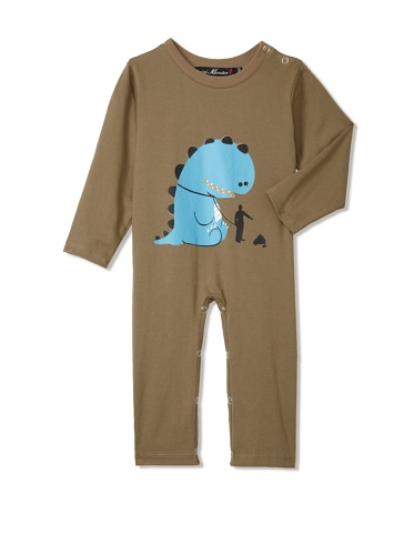 miniMONSTER Baby Boy's Poop Happens Coverall (Olive)