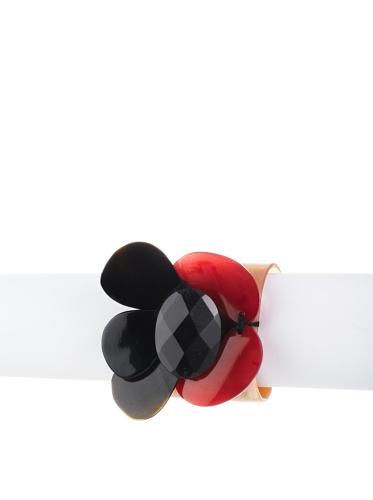 MARNI Women's Translucent Cuff Bracelet (Raspberry)