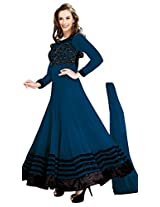 Manvaa PLEASING BLUE Embroidered Dress Material