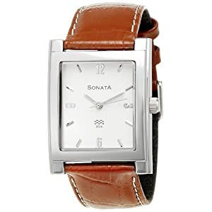 Sonata Analog White Dial Men's Watch - NF7925SL03A