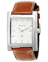 Sonata Analog White Dial Men's Watch - NF7925SL03A