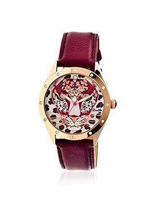 Bertha Women's BR4708 Alexandra Maroon/Multicolor Leather Watch