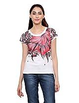 Rang Rage - Hand-painted Summer Red Splash Women's T-shirt - Cotton