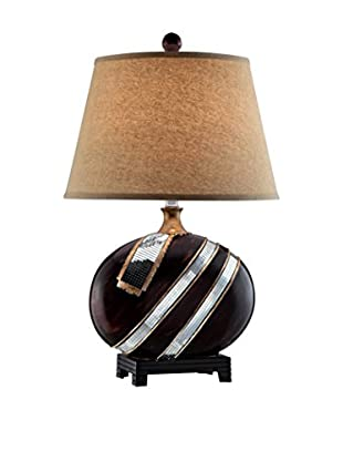 ORE International Kukui 1-Light Table Lamp, Espresso