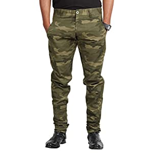 American Vintage Jeans Mens Cotton Trousers -Army Green -40