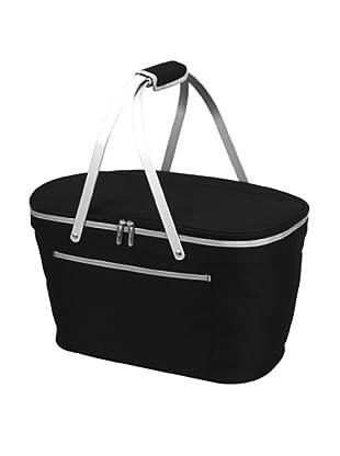 Picnic at Ascot Collapsible Basket Cooler (Black)