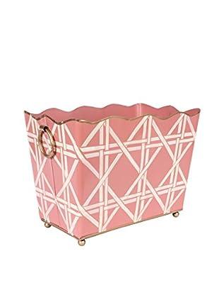 Jayes Cane Rectangular Magazine Holder, Pink