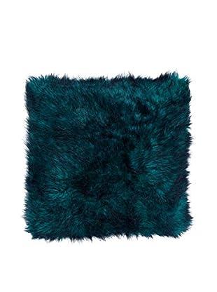 Cloud 9 Faux Fur Throw Pillow, Blue