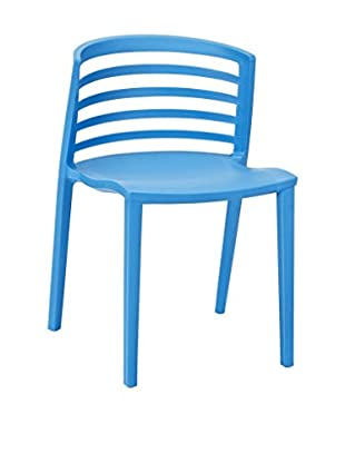Modway Curvy Dining Side Chair, Blue