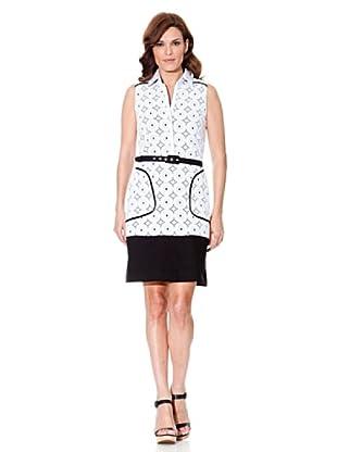 Cortefiel Vestido Sin Mangas (Blanco / Negro)