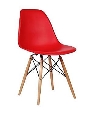 Set De 2 Sillas Wooden Color Edition Rojo