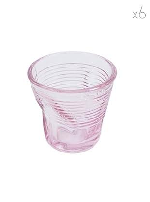 Kaleidos Set 6 Bicchieri Accartocciati 115 ml (Rosa)