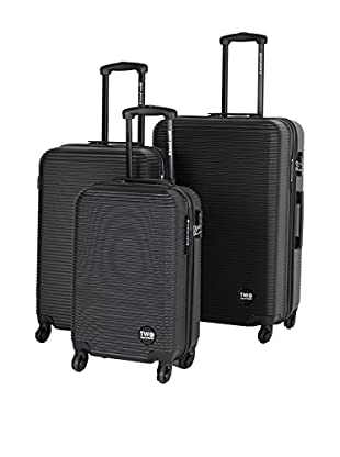 TRAVEL WORLD 3er Set Hartschalen Trolley