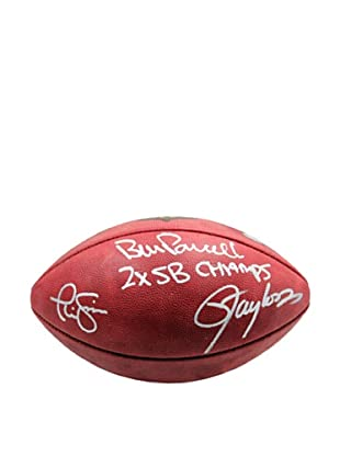 Steiner Sports Memorabilia NFL NY Giants Bill Parcells, Lawrence Taylor & Phil Simms Signed Football