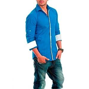 Nostra Young Dark Blue Casual Shirt (NY-DRBLU2)
