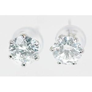 【クリックで詳細表示】【KASHIMA】プラチナ900・大粒・0.7カラット・ダイヤモンド・一粒石・スタッド・ピアス: ジュエリー通販